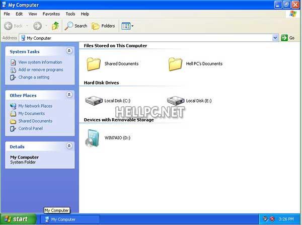 Insert Windows 7 installation media in your PC