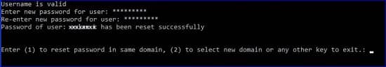 User Password Reset Successfully
