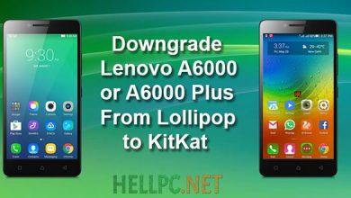 Downgrade Lenovo A6000 Plus From Lollipop 5.0.2 To Kitkat 4