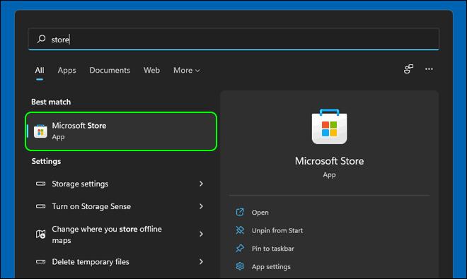 Launch Microsoft Store In Windows 11