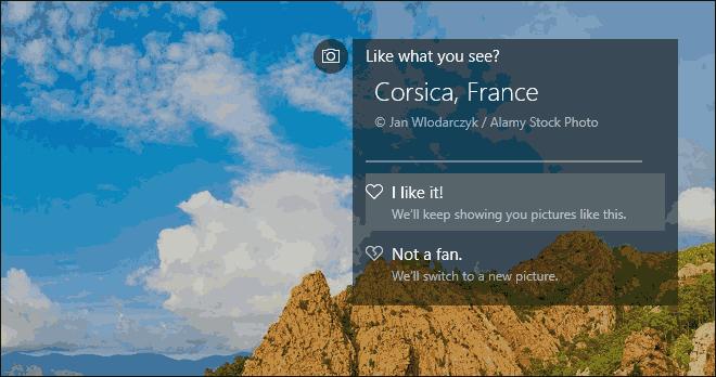 Provide Feedback For Windows Spotlight Lock Screen Images