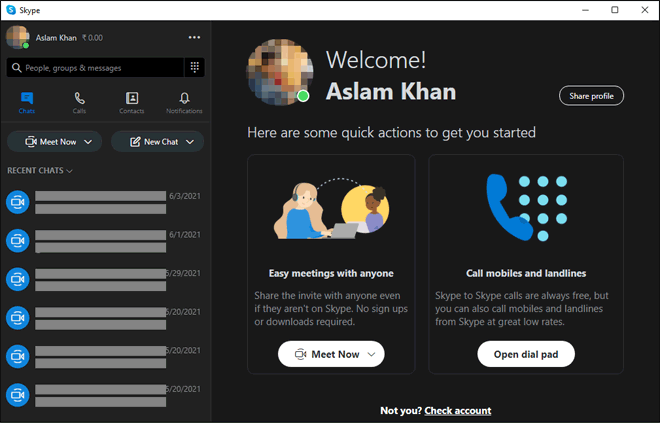 Start And Use Skype Desktop App On Chromebook