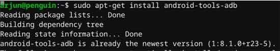Install ADB tools in Chrome OS using Linux terminal
