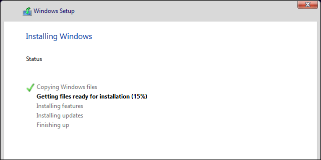 Windows 10 Clean Install In Progress