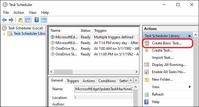 Click Create Basic Task In Task Scheduler