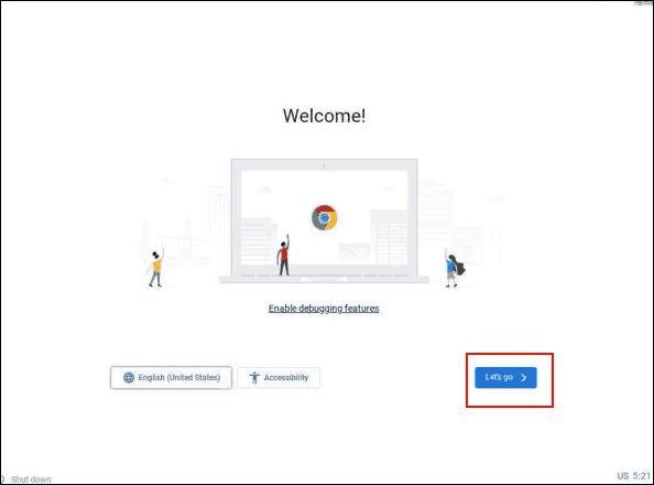 Start Initial Chrome Os Setup After Installation